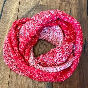 Red Infinity Knitted Scarf